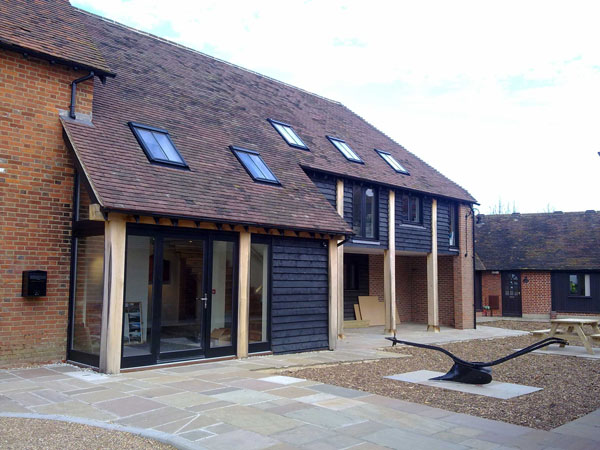 Front Elevation Of Office Building : Storey office building yalding kent lesters builders