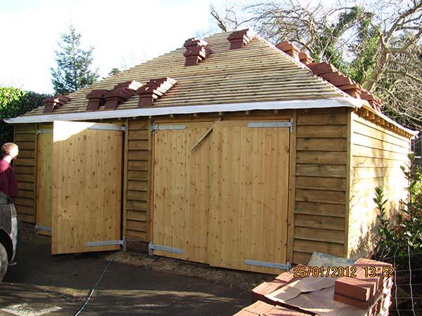 Timber Framed Garage Tunbridge Wells Kent Lesters Builders